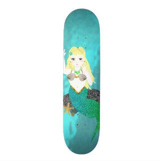 Cute Mythical Mermaid Custom Skateboard