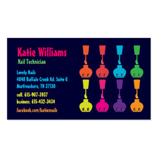 Cute Nail Polish Business Card