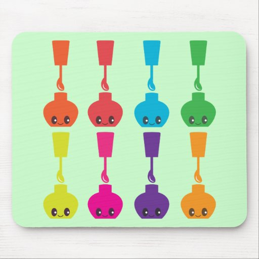 Cute Nail Polish! Mousepad