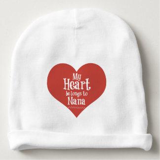 Cute Nana Beanie with Heart Design Baby Beanie