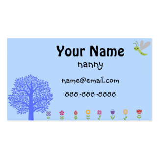 Cute Nanny Business Card
