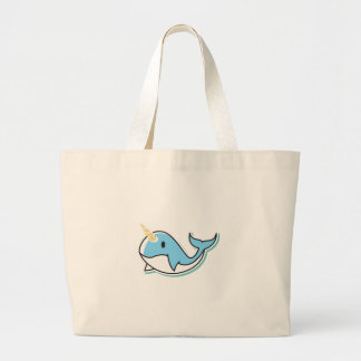 Cute Narwhal Large Tote Bag