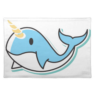 Cute Narwhal Placemat