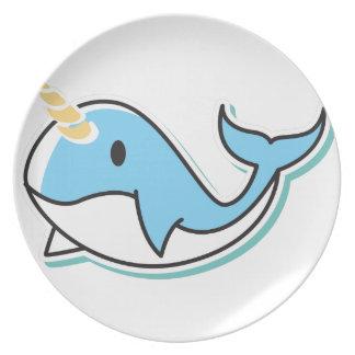 Cute Narwhal Plate
