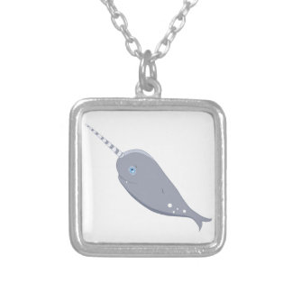 Cute Narwhal Silver Plated Necklace