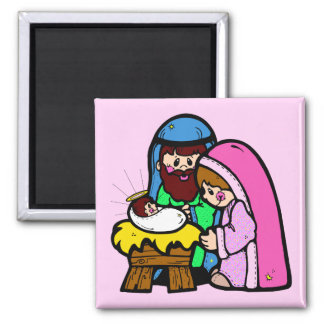 Cute Nativity Scene Magnet