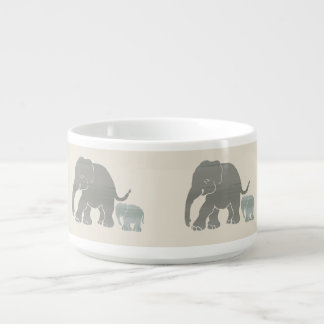 Cute Natural Colours Elephant with Baby Boudure Bowl