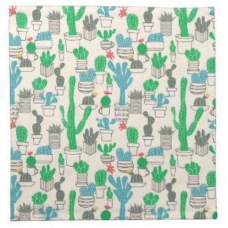 Cute Natural Floral Cacti Pattern Napkin