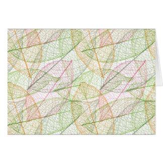 Cute natural leafs pattern note card
