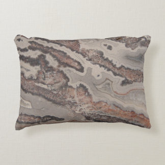 Cute Natural Rock Crazy Lace Agate Photo Designed Decorative Pillow