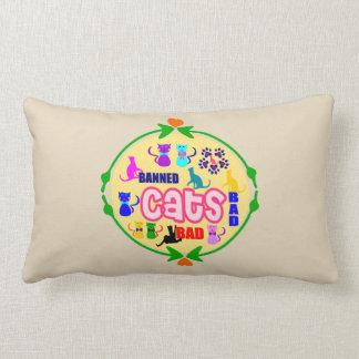 😻🐾↷❤Cute Naughty Cat Family Fabulous Lumbar Lumbar Pillow