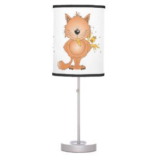 Cute Naughty Kitty Cat Cartoon and Friend Table Lamp