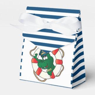 Cute Nautical Alligator Baby Shower Theme Favor Box