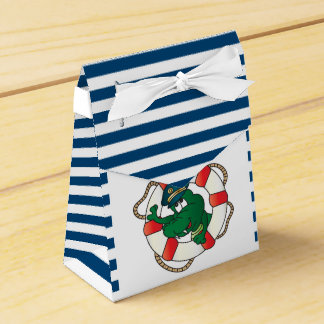 Cute Nautical Alligator Baby Shower Theme Favor Boxes