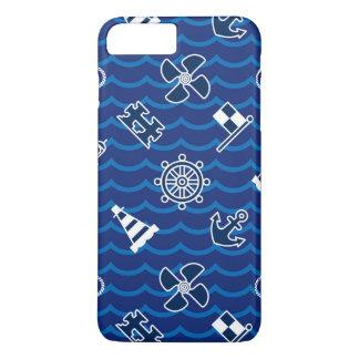 Cute Nautical Waves Pattern iPhone 7 Plus Case