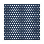 Cute Navy Blue White Tiny Little Polka Dots Gifts Gallery Wrap Canvas