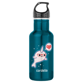 Cute Nerd Narwhal 532 Ml Water Bottle
