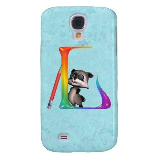 Cute Nerd Raccon Initial L HTC Vivid Cases
