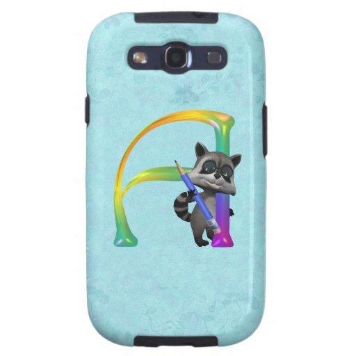 Cute Nerd Raccoon Monogram A Samsung Galaxy SIII Case
