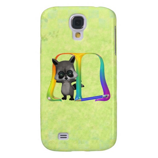 Cute Nerd Raccoon Monogram M HTC Vivid Covers