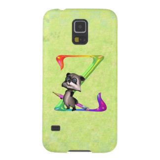Cute Nerd Raccoon Monogram Z Cases For Galaxy S5