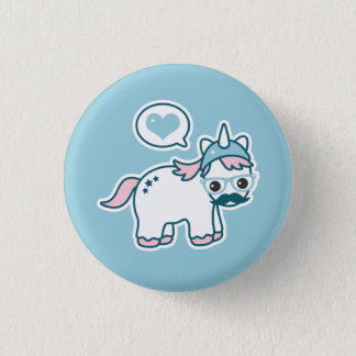 Cute Nerd Unicorn 1 Inch Round Button