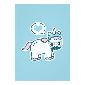 Cute Nerd Unicorn Baby Shower Invitations