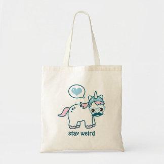 Cute Nerd Unicorn Tote Bag