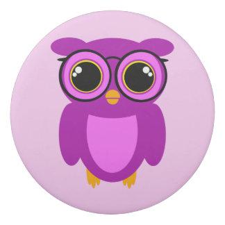 Cute Nerdy Owl Eraser
