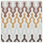 Cute neutral brown gold grey chevron ikat pattern fabric