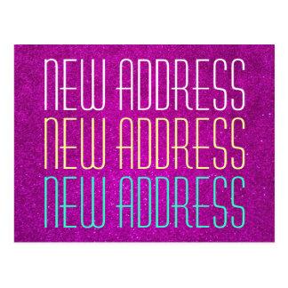 Cute new address typography postcards