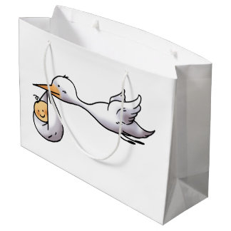 cute new arrival baby shower large gift bag