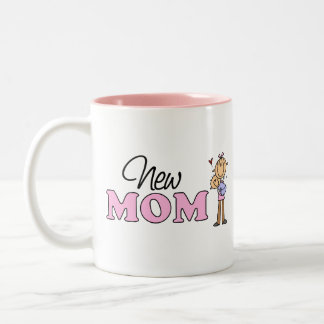Cute New Mom Gift Two-Tone Coffee Mug