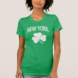 Cute New York Irish Shamrock T-Shirt
