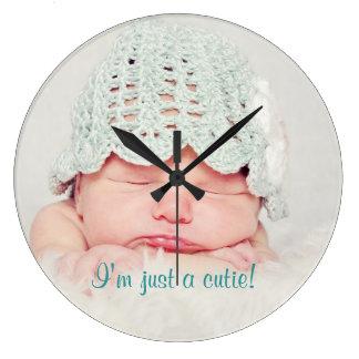Cute Newborn Baby Custom Clock