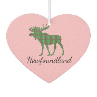 Cute Newfoundland moose tartan Air freshener