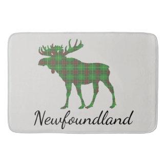 Cute Newfoundland moose tartan Bathroom mat