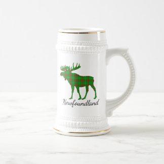 Cute Newfoundland moose tartan beer stein