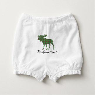 Cute Newfoundland moose tartan diaper cover