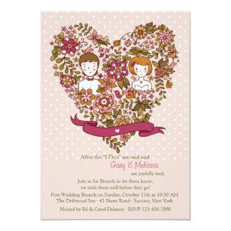 Cute Newlyweds Post Wedding Brunch Invitation