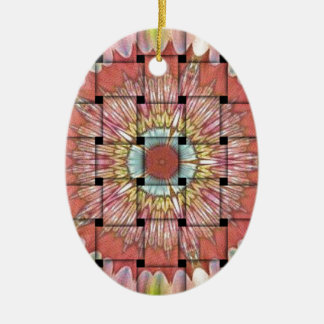Cute Nice and Lovely Woven Design Ceramic Oval Ornament