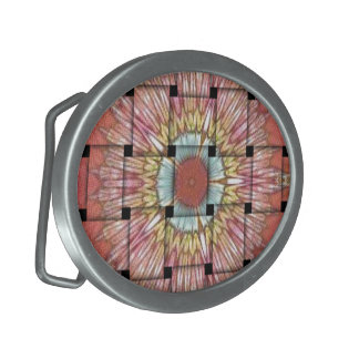 Cute Nice and Lovely Woven Design Oval Belt Buckle