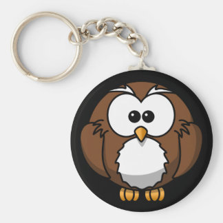 Cute Night Brown Owl Keychain