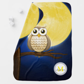 Cute Night Wise Owl | Decorative Baby Blanket