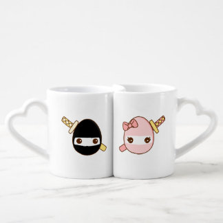 Cute Ninja Eggs Coffee Mug Set