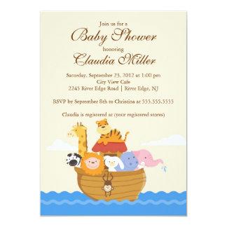 "Cute Noah""s Ark Baby Girl or Baby Boy Shower Custom Invites"