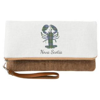 Cute Nova Scotia Lobster  tartan   clutch