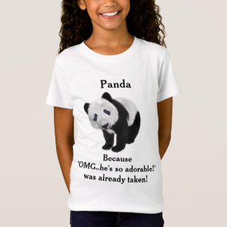 Cute Novelty Panda Bear T-Shirt