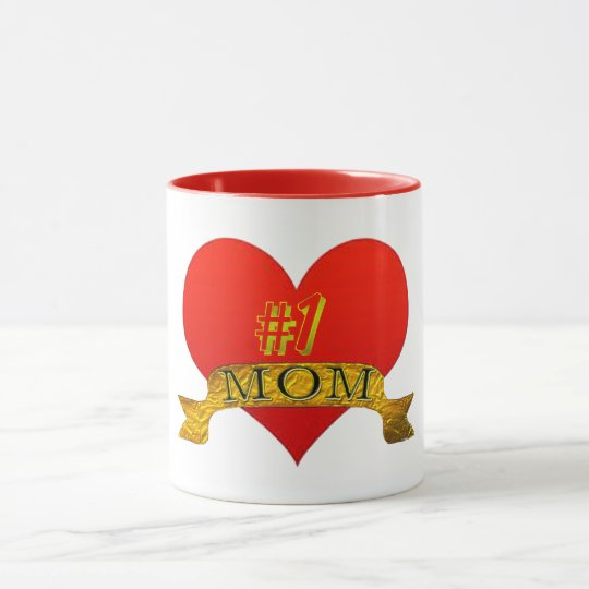 cute number one mom mother's day mug gift idea