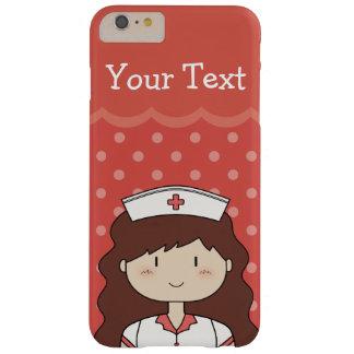 Cute Nurse with Long Wavy Hair Barely There iPhone 6 Plus Case